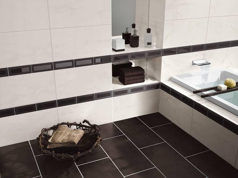 Badezimmer bordre beispiel - Selbstklebende bordure fur fliesen ...